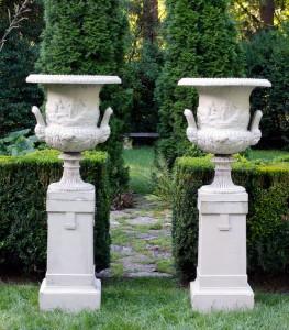 Galloway Urns, Rustic European Materials