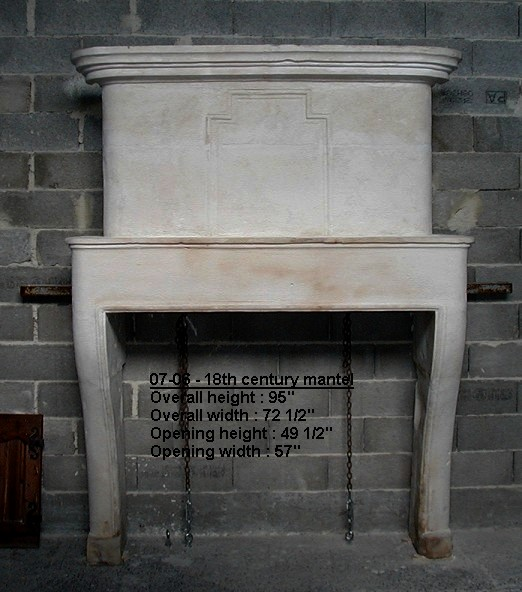 18th Century Fireplace Mantel