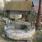 Antique Rustic French Well Head With Top