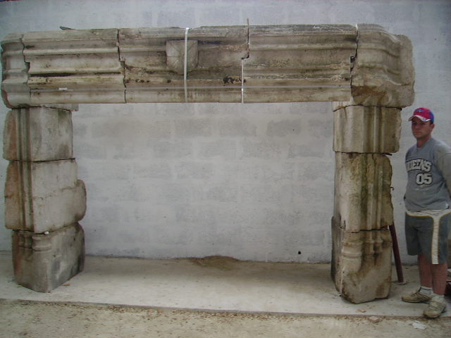 Rustic European Fireplace