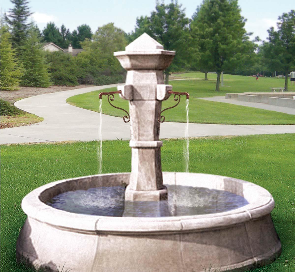 Rustic European Reclaimed Fountain
