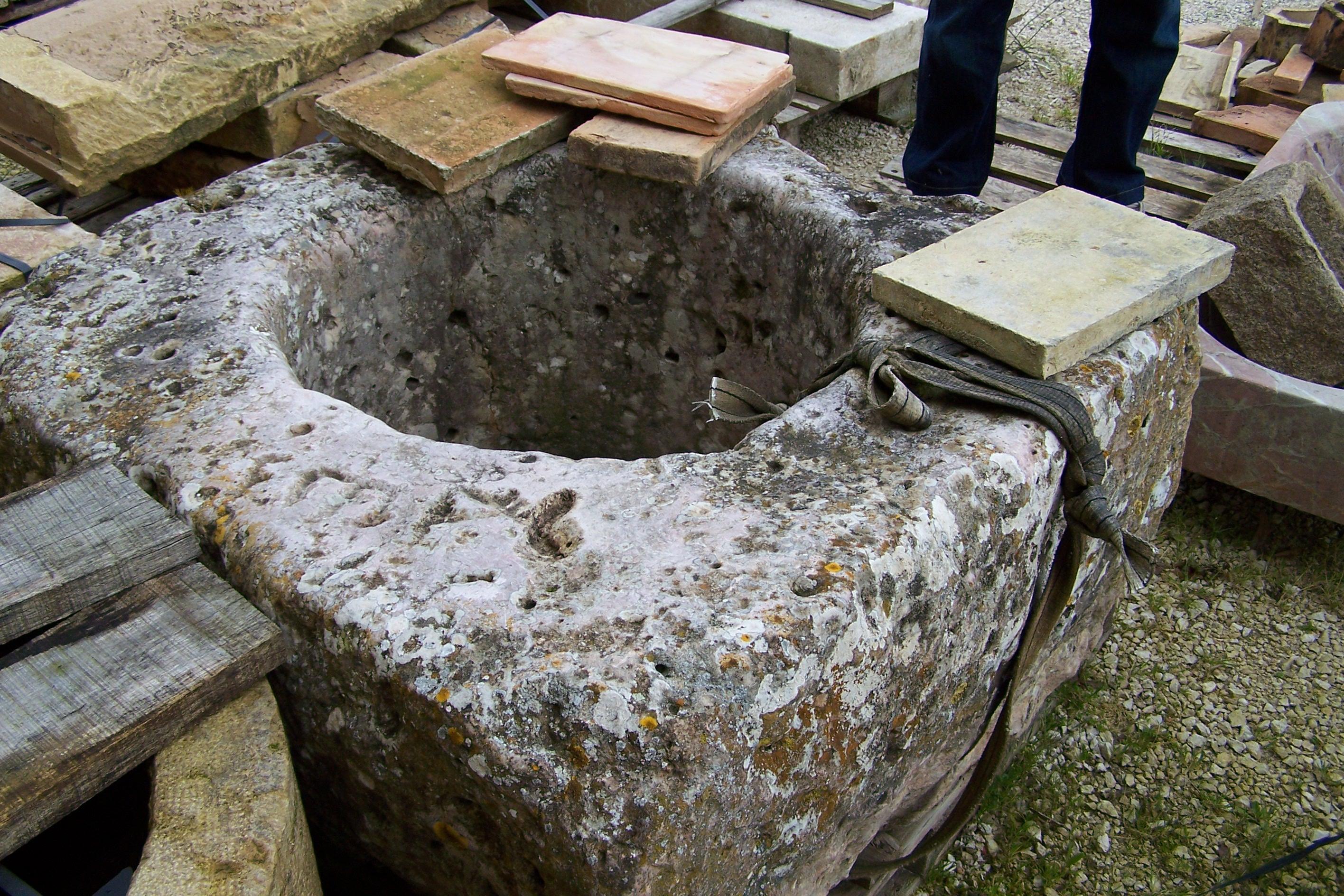 Rustic European Reclaimed Water Trough