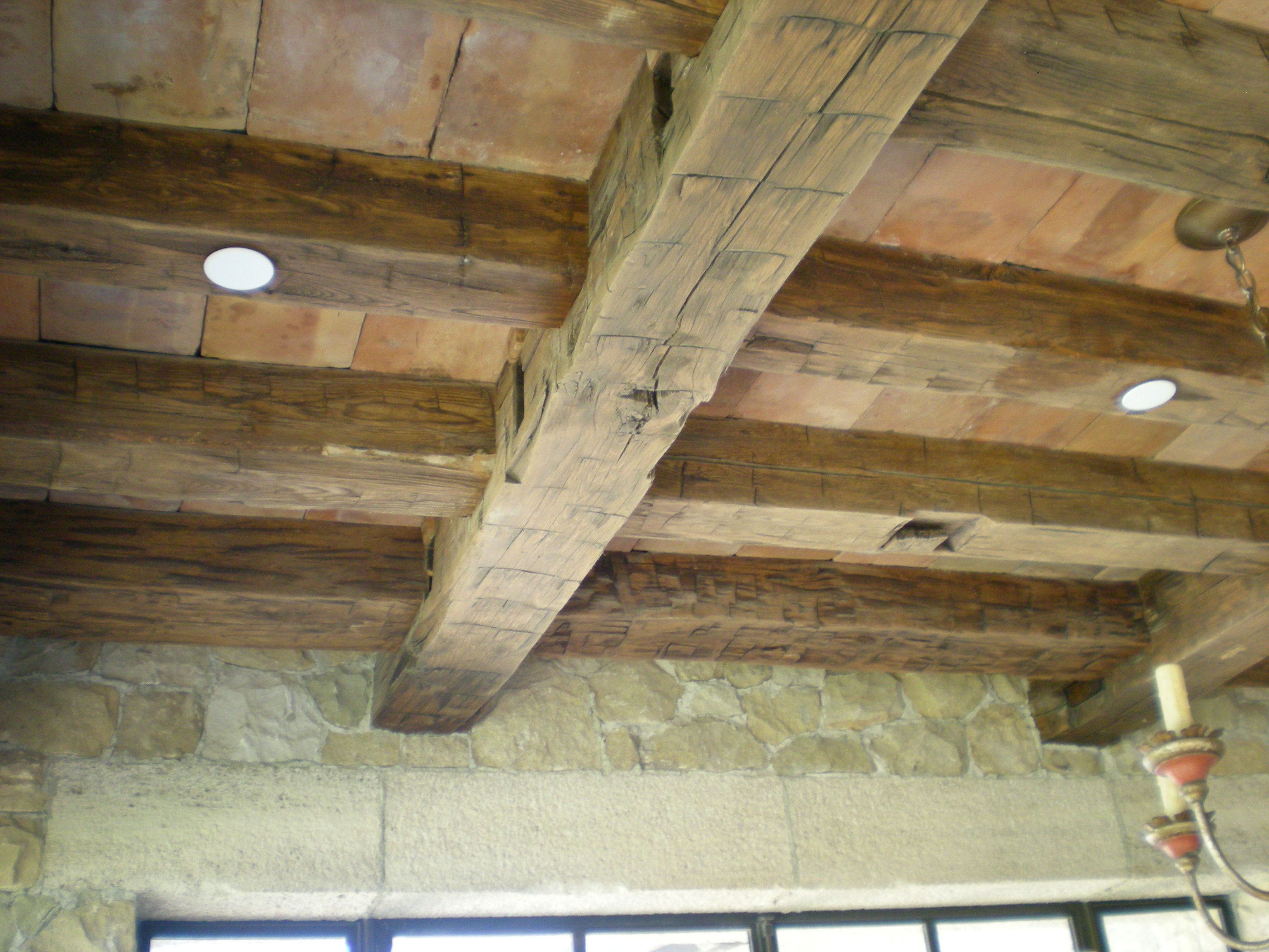 Green Reclaimed Oak Beams