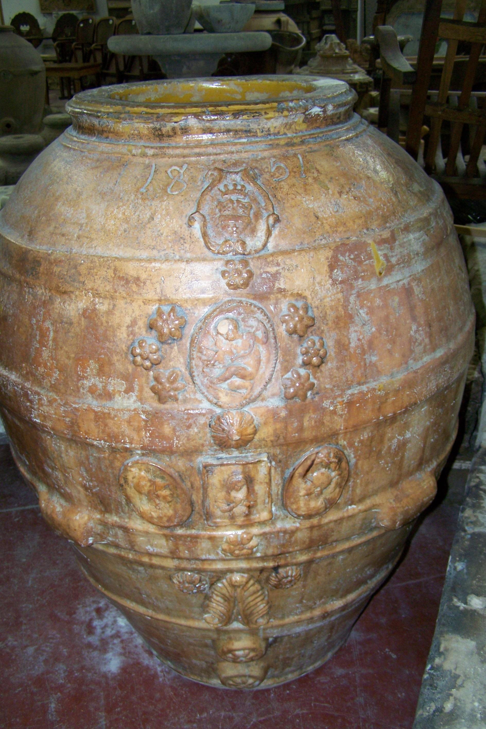 Italian Antique Wine Pot