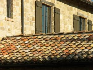 Mediterranean reclaimed terra cotta roofing