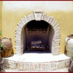 Rustic Reclaimed European Fireplace