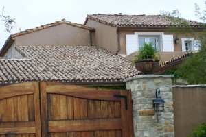 Rustic reclaimed European terra cotta roofing