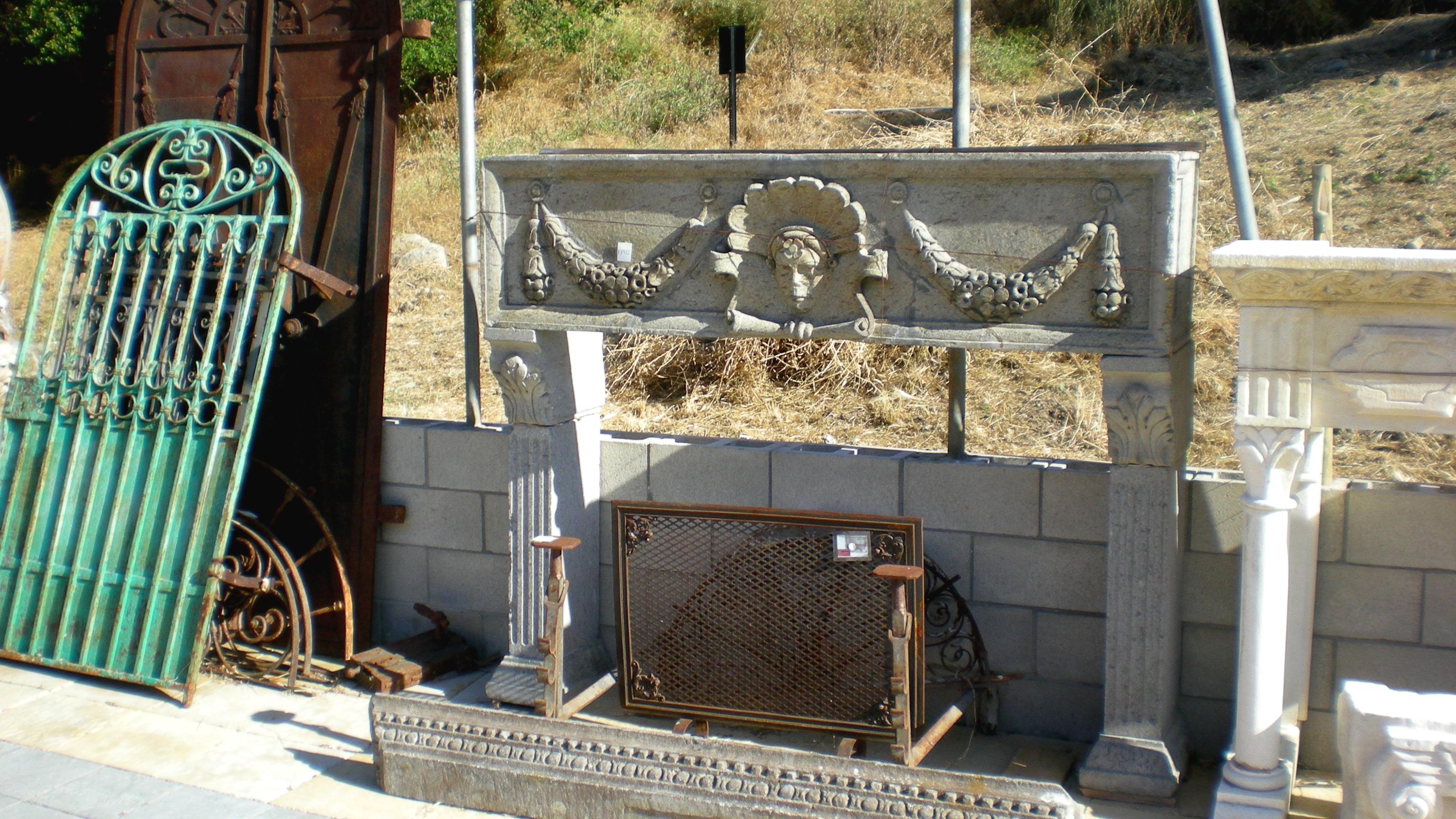 Italian Rustic Fireplace