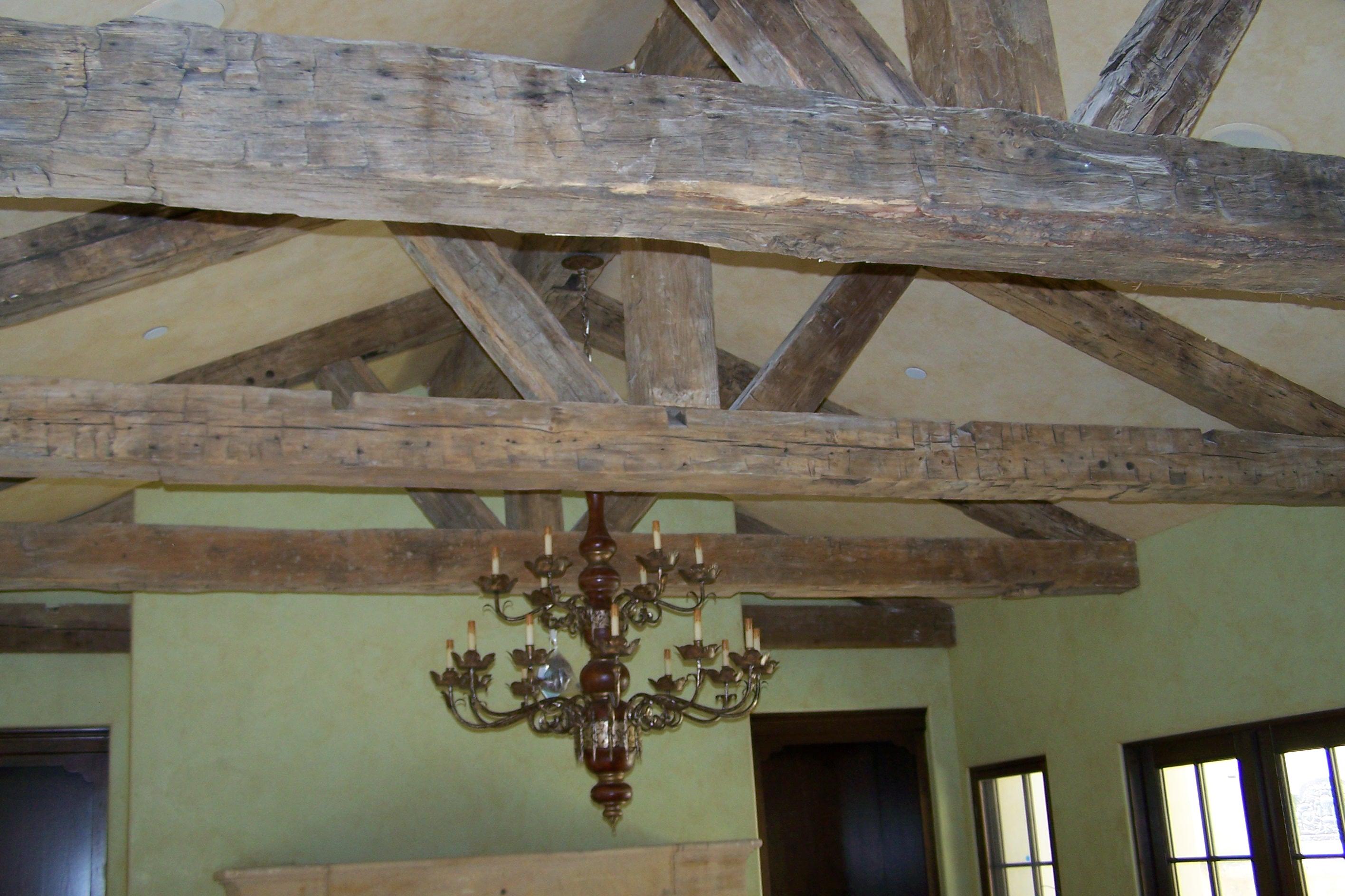Rustic Reclaimed Mixed Wood Beams