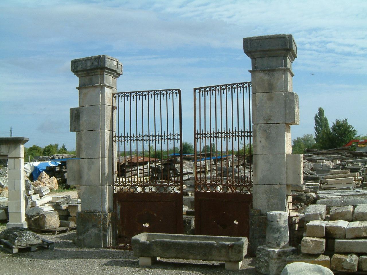 Reclaimed European Stone Gate Garden Element