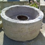 Green Reused Round Stone Well