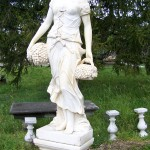Ancient European Garden Statue Garden Element