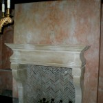 French Rustic Fireplace