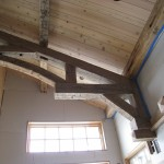 Old Reclaimed Chestnut Ceiling And Beams