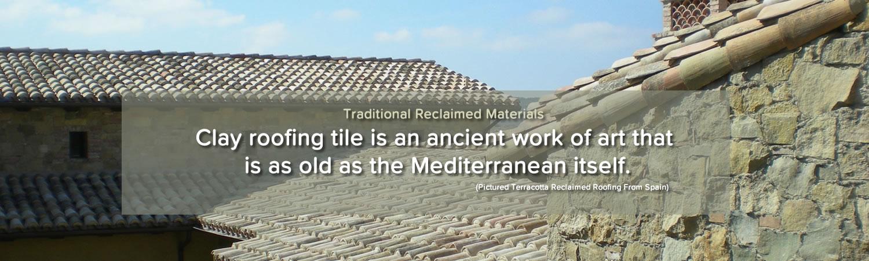 Vintage terracotta clay tiles Spain