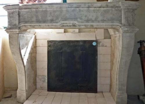 Carved Reproduction Fireplace