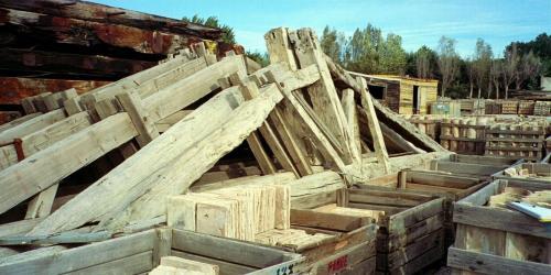 Old Reclaimed Hardwood Hand Hewn Beams
