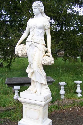 Reclaimed Marble Italian Statue