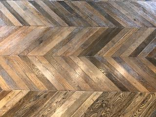 Chevron Pattern Vintage Wood Flooring
