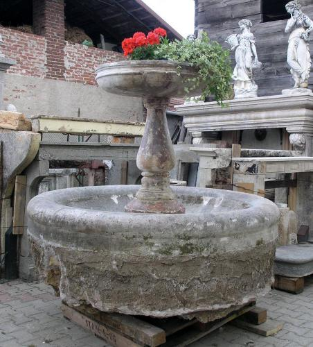 Rare Pedestal Fountain 17th. C